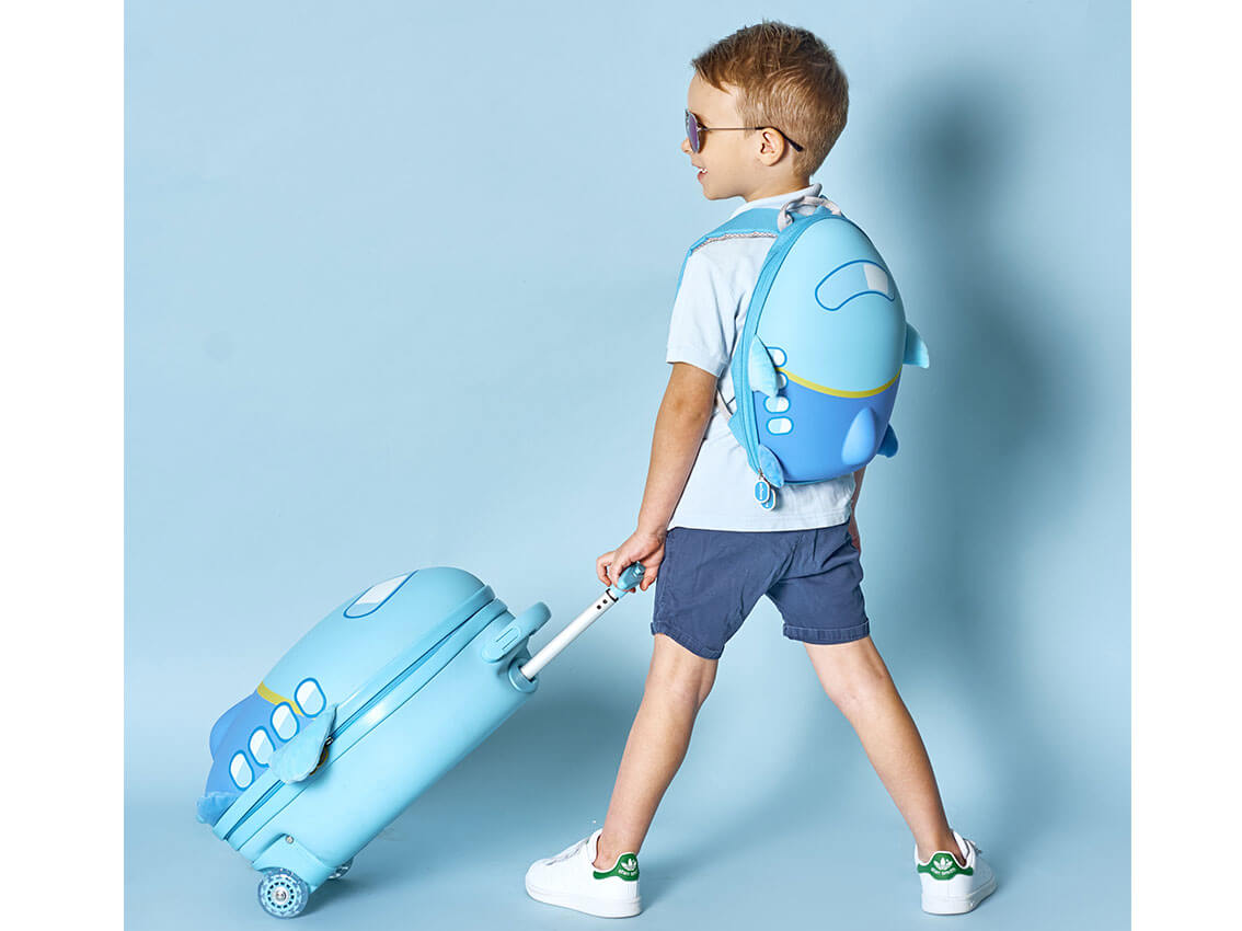 Комплект (рюкзак и чемодан) Anilove Самолет