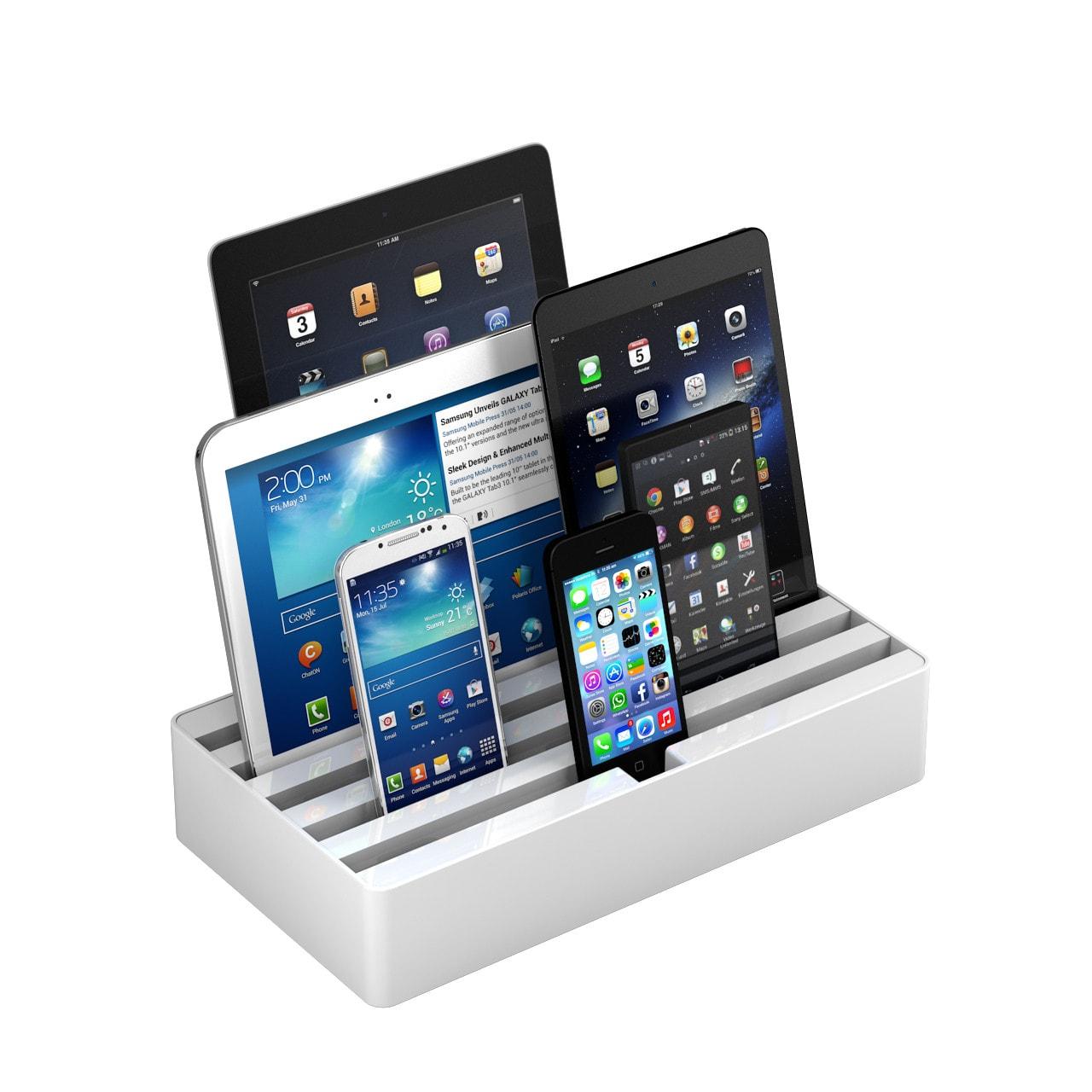 All-Dock – универсальная зарядная док-станция на 6 USB-портов для быстрой зарядки устройств (Large)