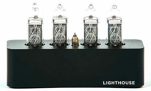 Часы на газоразрядных индикаторах Lighthouse IN-14 Black