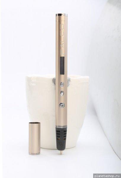 Печатающая 3D-ручка KREZ FALCO P3D14 (Золотая)