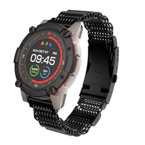 Matrix PowerWatch 2 LUXE — спортивные часы с датчиком ЧСС и модулем GPS, которые не требуют подзарядки