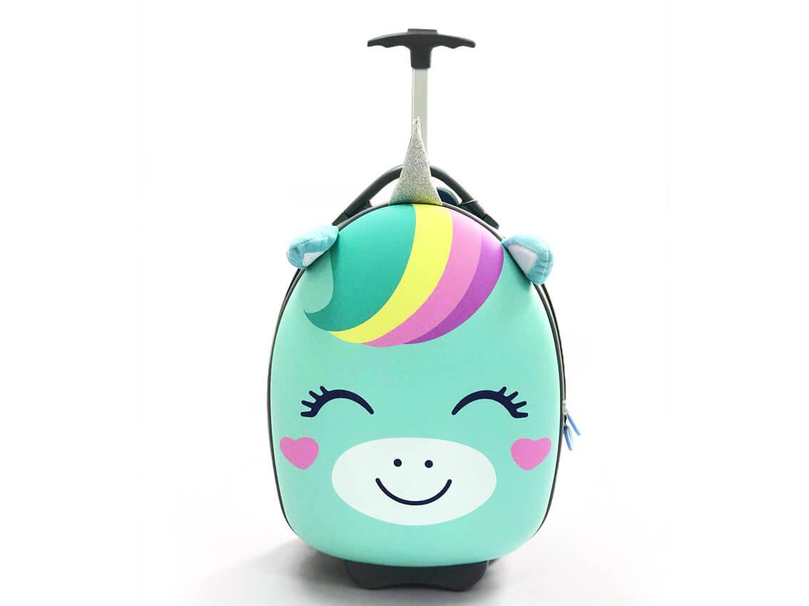 Детский чемодан Anilove Единорог Юни (мятный)