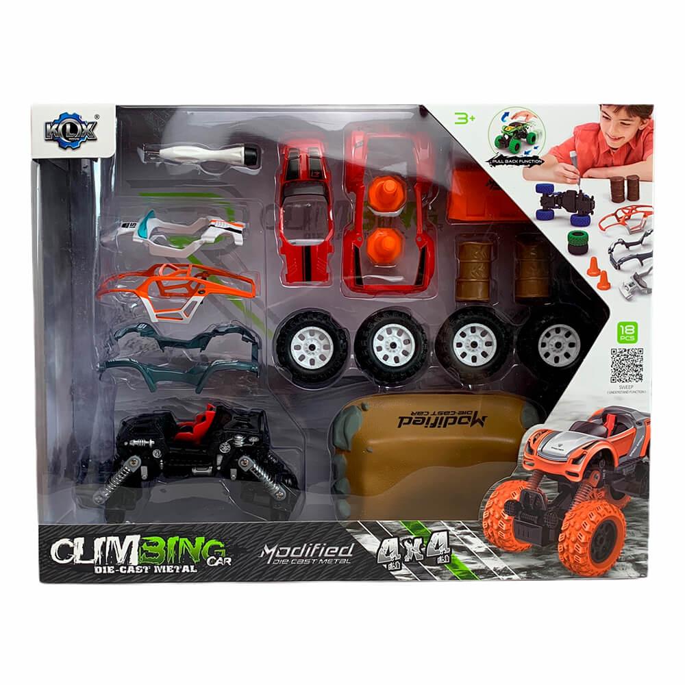 """Машинка - конструктор """"4Х4"""" Modified, зеленый и серый"""