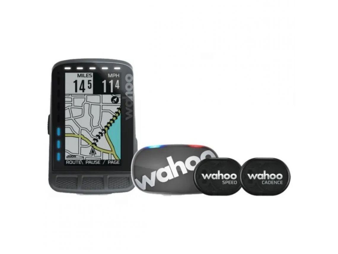Велокомпьютер + кардио-пояс + датчики скорости и частоты вращения педалей Wahoo ELEMNT ROAM GPS Bike Computer Bundle Black для iOS/Android устройств