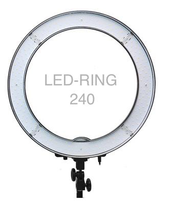 Круглая кольцевая лампа Okira LED-RING 240 (49 см)