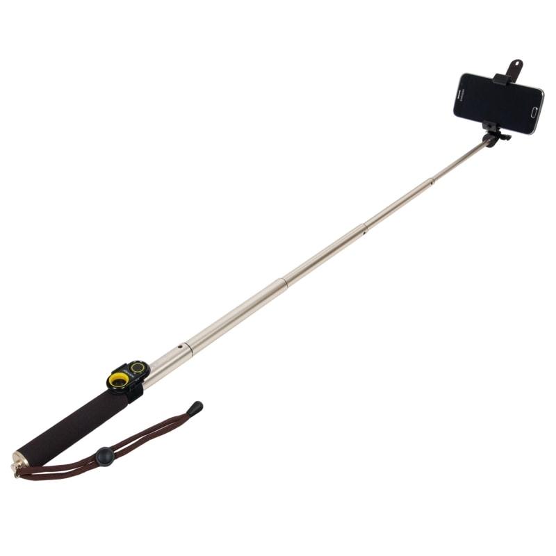 Монопод для селфи DIGICARE Dr.Self Standard Pro eye набор для селфи ( монопод, держатель, пульт ду блютуз, макронасадка, минитрипод, чехол) желтый
