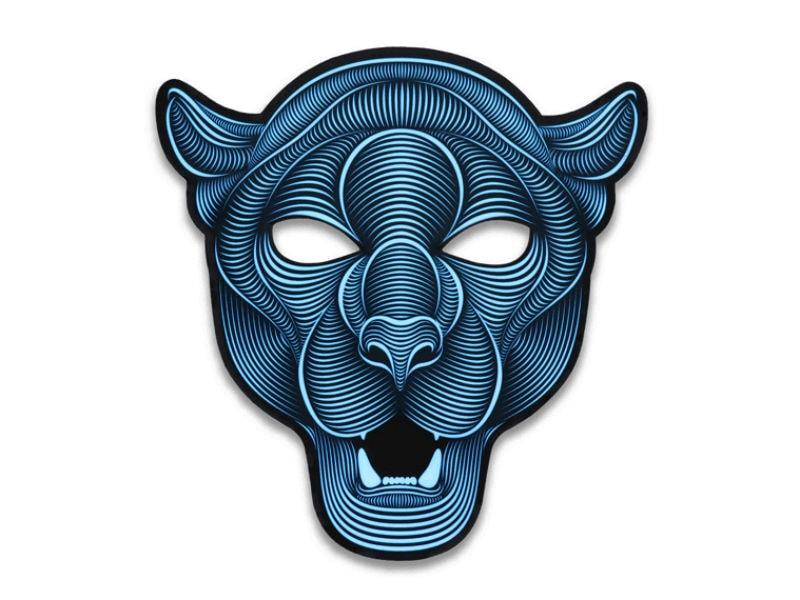 Cветовая маска с датчиком звука GeekMask Jaguar
