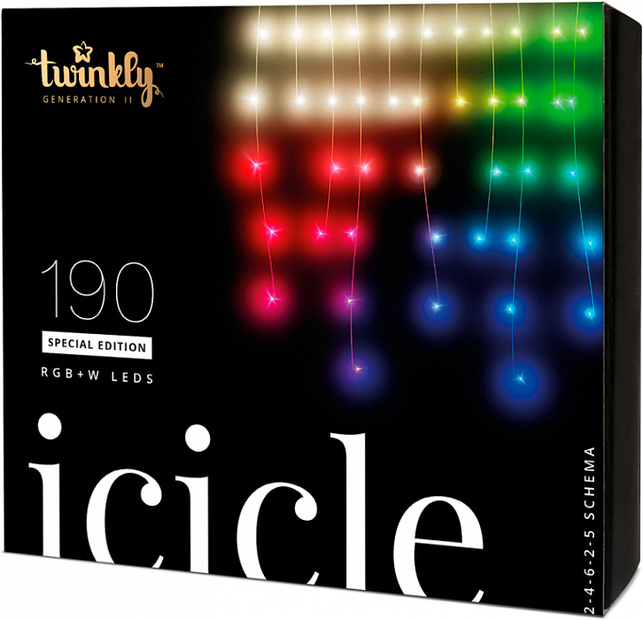 Smart-гирлянда Twinkly iCicle Special Edition (TWI-190-SPP) (190 лампочек)