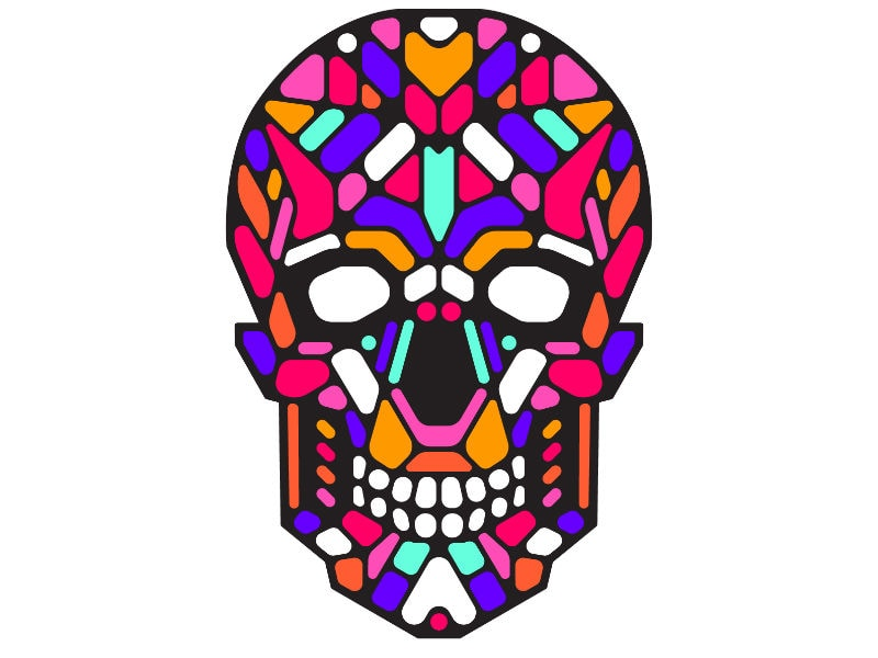 Cветовая маска с датчиком звука GeekMask Sugar Skull