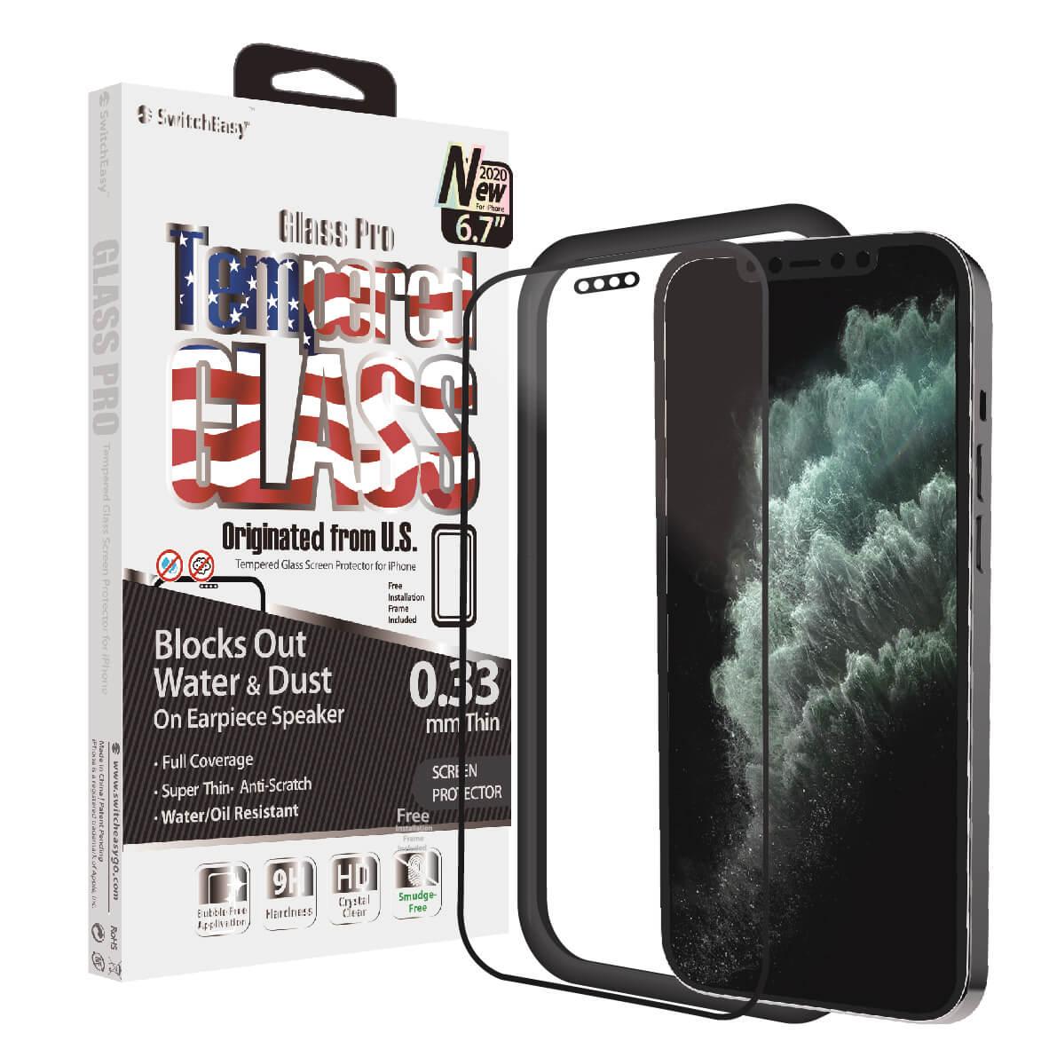 Защитная пленка из закаленного стекла с полным покрытием SwitchEasy Glass Pro для iPhone 12 2020