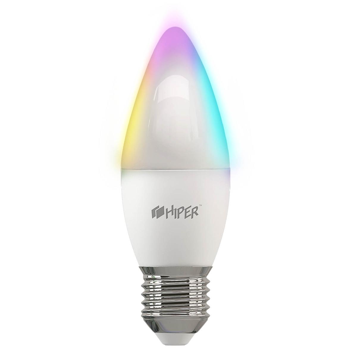 Умная цветная LED лампочка Wi-Fi HIPER A2 RGB