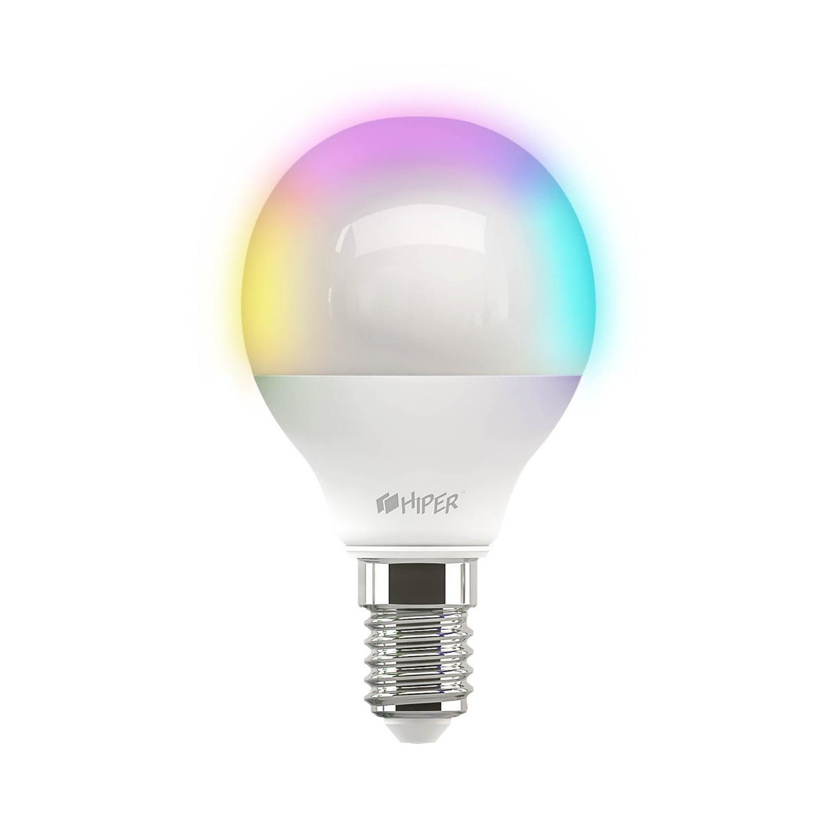 Умная LED лампочка Wi-Fi HIPER C3 RGB