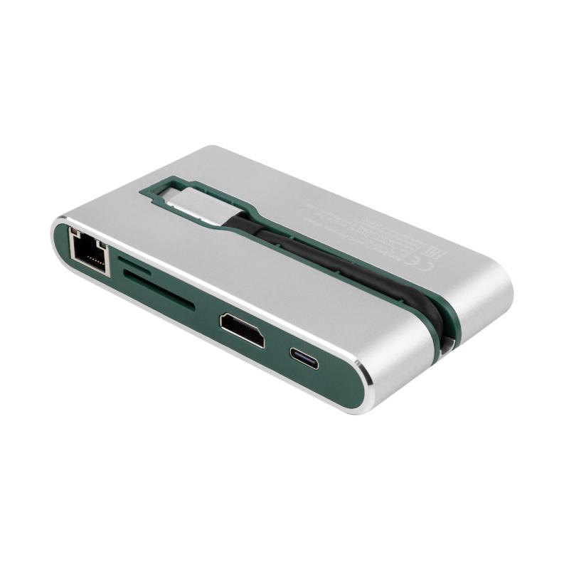 USB Type-C Хаб Rombica Type-C Hermes. Цвет: зеленый.