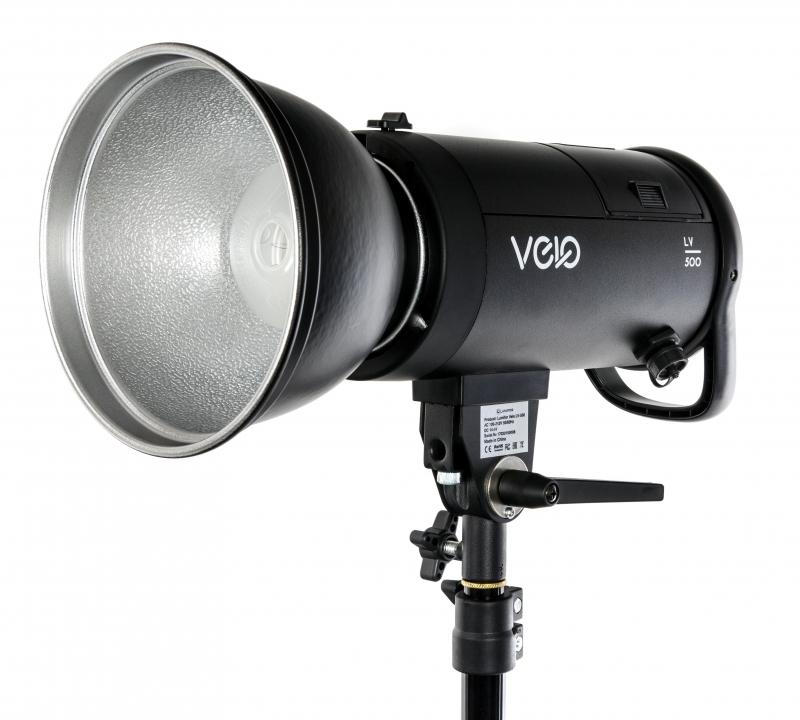 Студийный осветитель Lumifor VELO LV-500, 500Дж, импульсный моноблок AC/DC