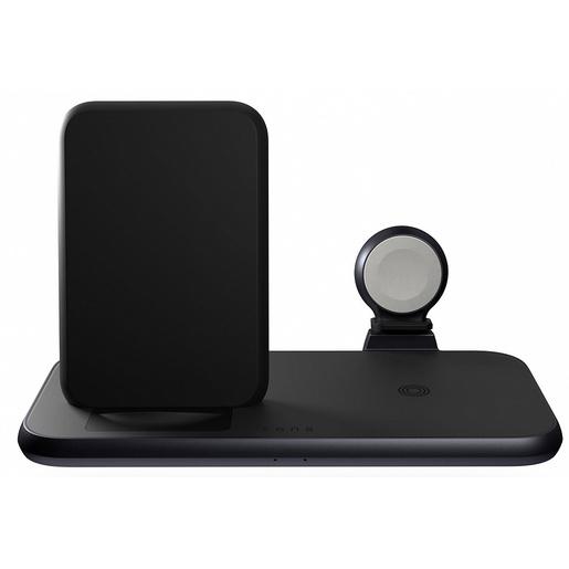 Беспроводное зарядное устройство ZENS Aluminium 4 in 1 Stand Wireless Charger with 45W USB PD. Цвет: черный. ZENS Aluminium 4 in 1 Stand Wireless Charger with 45W USB PD