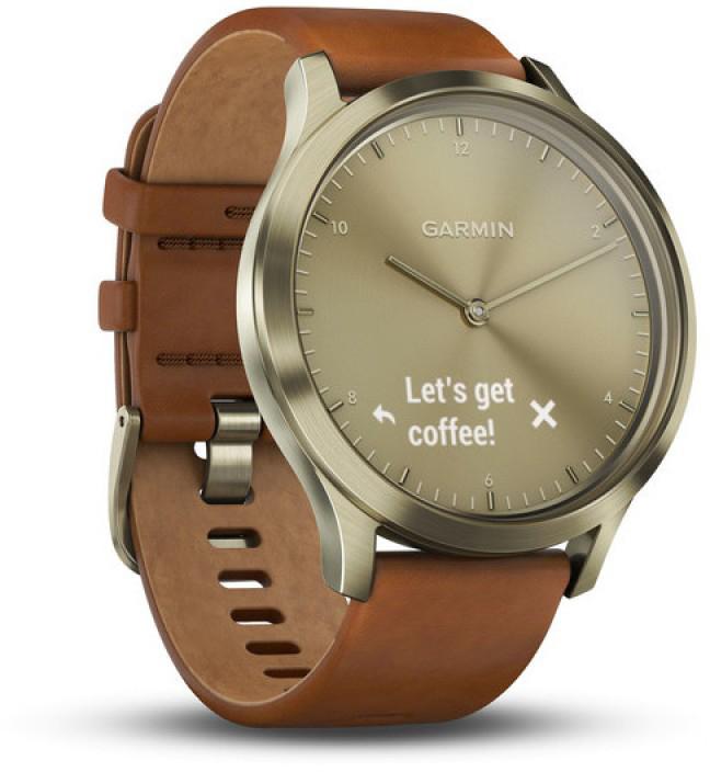 Умные часы Garmin Vivomove HR Premium S/M 010-01850-25 (Gold/Gold)