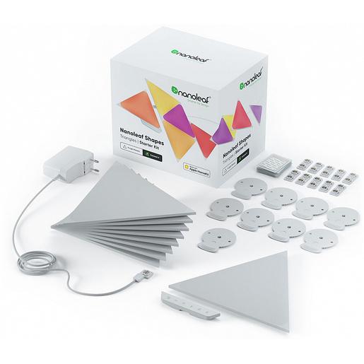 Светодиодный светильник Nanoleaf Shapes Triangles Starter Kits. Состоит из 9 независимых светодиодных панелей.
