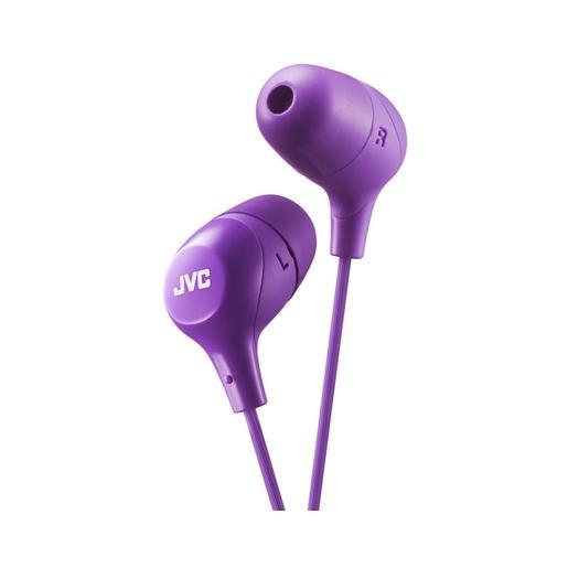 Наушники JVC проводные внутриканальные, модель HA-FX38-V-E, серия Marshmallow. Цвет: фиолетовый JVC Наушники проводные внутриканальные, модель HA-FX38-V-E, серия Marshmallow. Цвет: фиолетовый