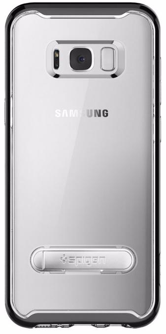 Spigen Crystal Hybrid (571CS21126) - чехол-накладка для Samsung Galaxy S8 Plus (Black)