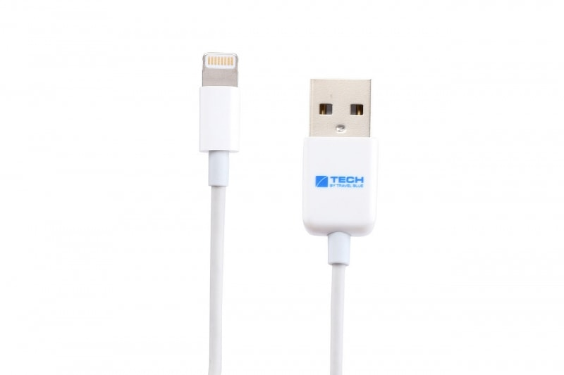 Кабель для зарядки iPhone Travel Blue Lightning Cable (970), цвет белый