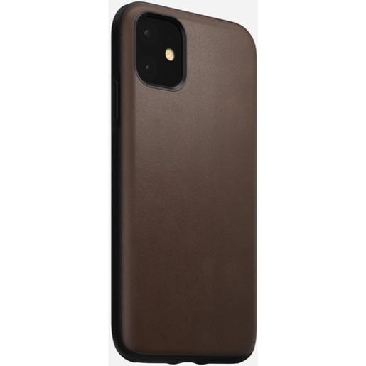 Чехол Nomad Rugged Case для iPhone 11 Pro. Материал кожа натуральная. Цвет светло-коричневый (Rustic Brown).