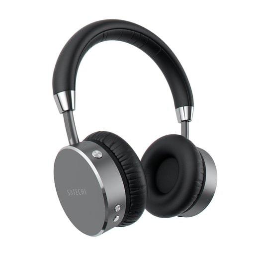 Беспроводные накладные наушники Satechi Bluetooth Aluminum Wireless Headphones. Цвет серый космос.