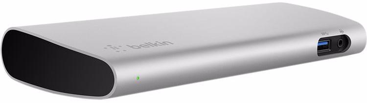 Расширитель портов ввода-вывода Belkin Thunderbolt 3 Express Dock HD F4U095 (Grey)