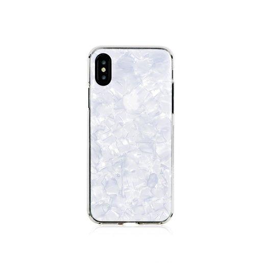 Чехол Bling My Thing для iPhone XS/X. Коллекция Chic Collection. Дизайн White Pearl. Материал пластик.