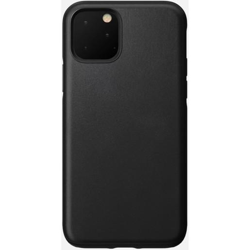 Чехол Nomad Rugged Case для iPhone 11. Материал кожа натуральная. Цвет черный.