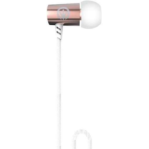 Наушники iFrogz Luxe Air с микрофоном вставные. Цвет розовое золото.