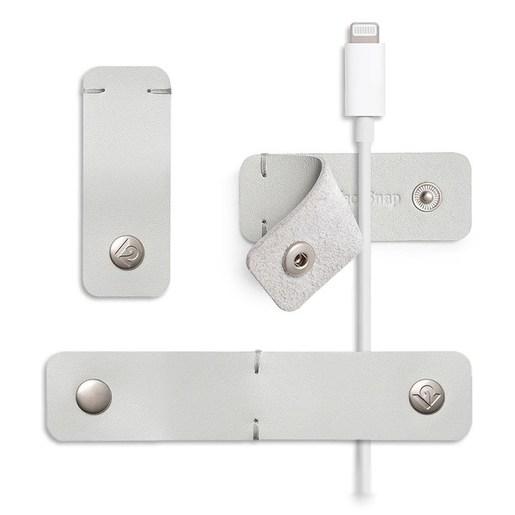 Набор кабельных органайзеров Twelve South SurfaceSnap.  В комплекте 3 шт. Цвет: серый. Twelve South SurfaceSnap (3-pack) - Dove Grey