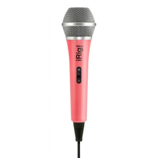 IK Multimedia iRig Voice портативный микрофон для совместного использования со смартфонами и планшетами. Цвет розовый.