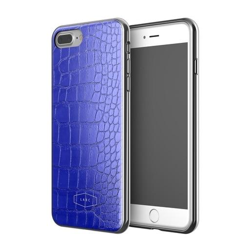Чехол LAB.C Crocodile Case для iPhone 7 Plus. Материал пластик/полиуретан. Цвет синий.