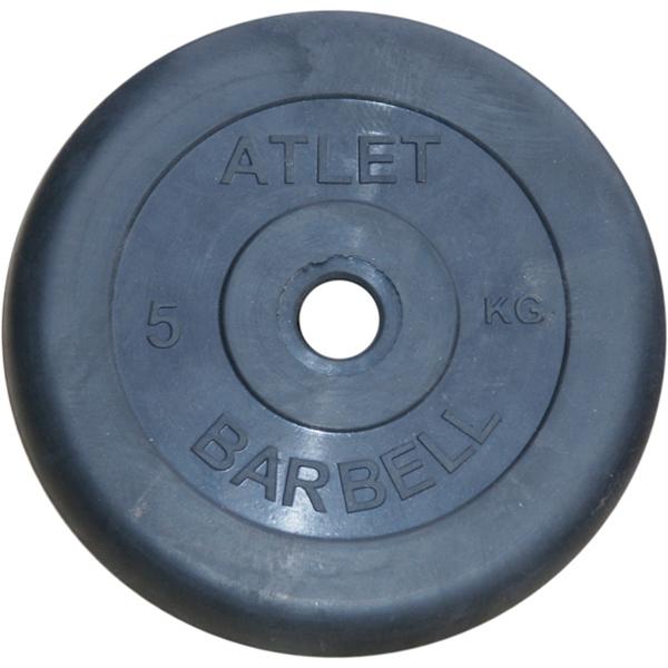 Диски обрезиненные, чёрного цвета, 31 мм, Atlet MB-AtletB31-5