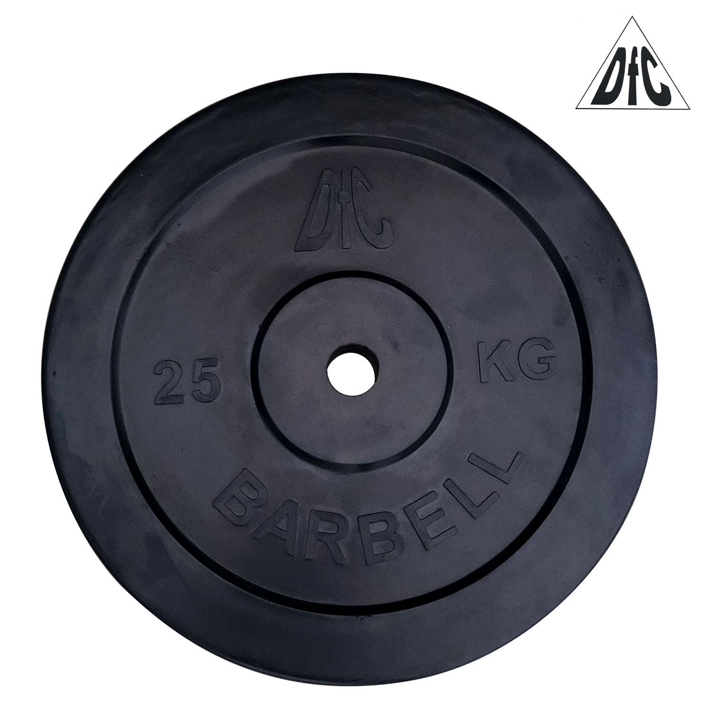 Диск обрезиненный DFC, чёрный, 31 мм, 25кг