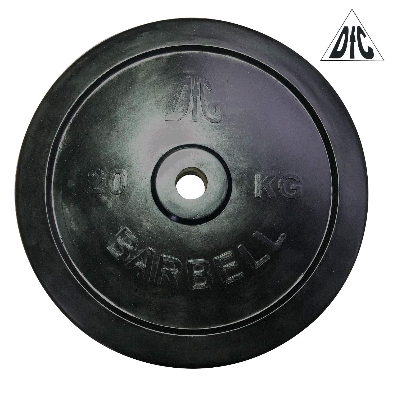 Диск обрезиненный DFC, чёрный, 31 мм, 20кг
