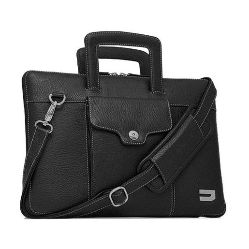 """Чехол-портфель Urbano для MacBook 15"""" кожаный, цвет: черный."""