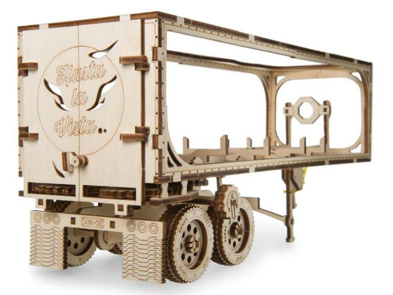 3D-пазл UGears Трейлер для тягача Heavy Boy VM-03 (Trailer for Heavy Boy Truck VM-03)
