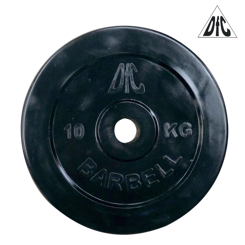 Диск обрезиненный DFC, чёрный, 31 мм, 10кг
