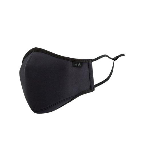 Многоразовая маска Moshi OmniGuard Mask с тремя сменными фильтрами Nanohedron. Материал: полиэстер 95%, резина 5%. Размер: M. Цвет: черный. Moshi OmniGuard Mask (M) - Black