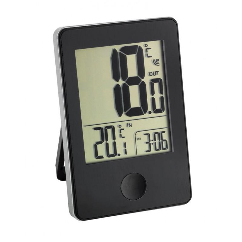 Термометр с внешним датчиком TFA 30.3051.01, черный