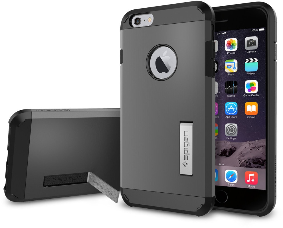 Spigen Tough Armor (SGP11053) - чехол для iPhone 6 Plus (Gunmetal)