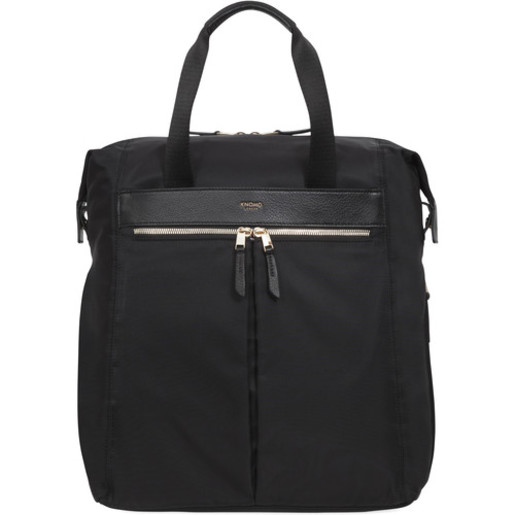"""Сумка-рюкзак Knomo Chiltern для ноутбука до 15.6"""". Материал нейлон, кожа натуральная. Цвет черный."""