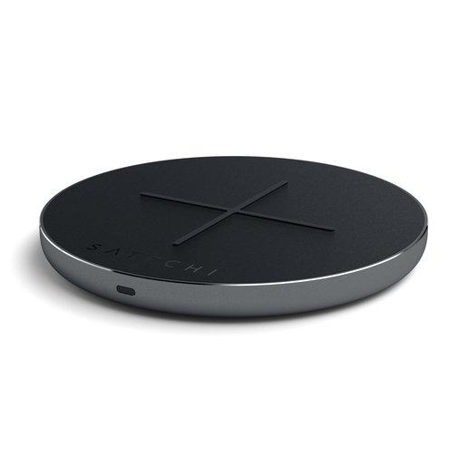 Беспроводное зарядное устройство Satechi Type-C PD & QC Wireless Charger. Функции PD и QC, LED индикация. Цвет серый космос.