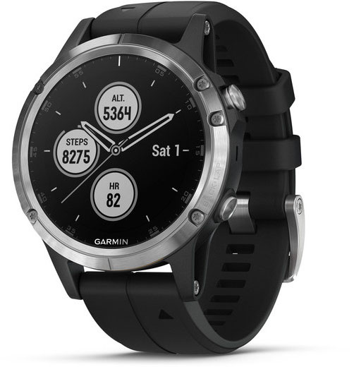 Умные часы Garmin Fenix 5 Plus 010-01988-11 (Silver/Black)