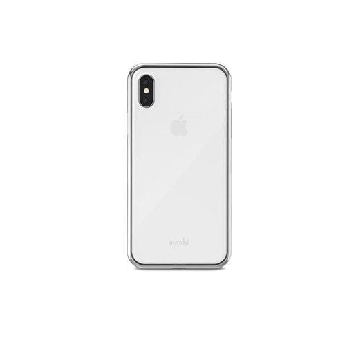 Чехол Moshi Vitros для iPhone X. Материал пластик. Цвет серебряный.