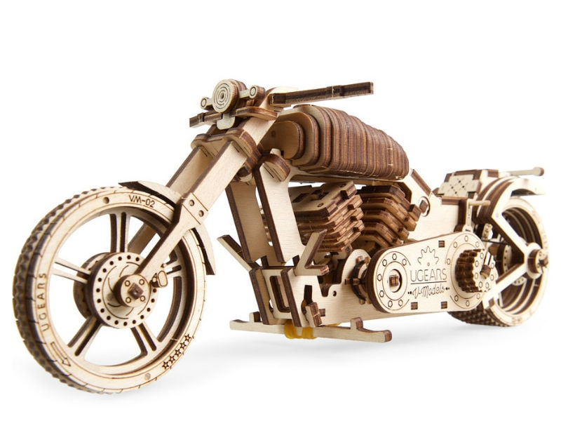 3D-пазл UGears Мотоцикл (Bike)