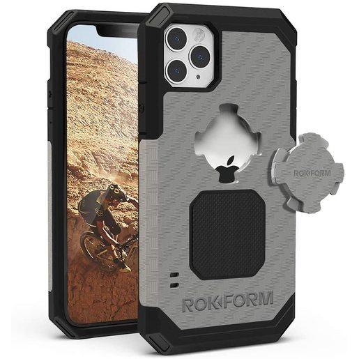 Противоударный чехол-накладка Rokform Rugged Case для iPhone 11 Pro Max со встроенным магнитом.. Материал: поликарбонат. Цвет: серый. Rokform Rugged Case for iPhone 11 Pro Max - Gunmetal