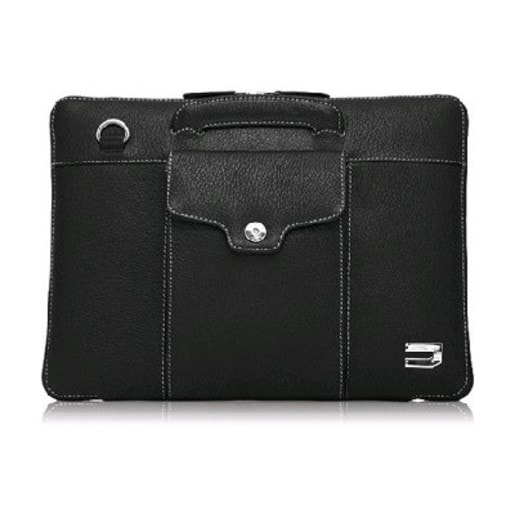 """Чехол-портфель Urbano для MacBook Air 11"""" кожаный, цвет: черный."""