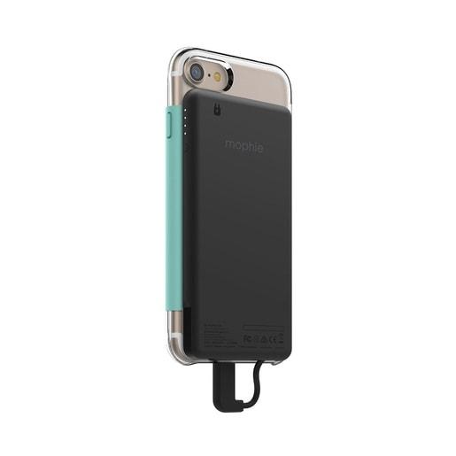 Накладка-батарея PowerStation Plus для чехла Mophie Hold force base case для iPhone 7. Цвет серебряный.